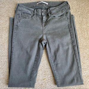 Vince Olive Green 5 Pocket Classic Skinny Jeans